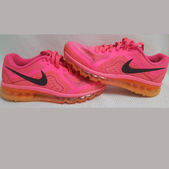 new style 5f9e4 41998 Nike Air Max 2014 Hot Pink Orange Running 9.5 Shoe.  M 5b01cd0a9d20f0817fe73f22
